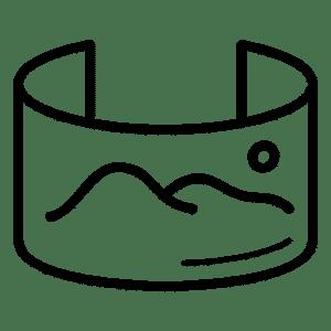Fond vert cyclorama